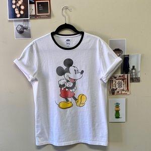 Old Navy Disney Men's Mickey Mouse Tee White